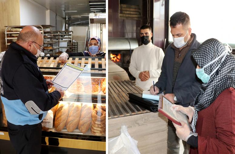 Van'daki fırınlar gıda mühendisleri eşliğinde denetlendi