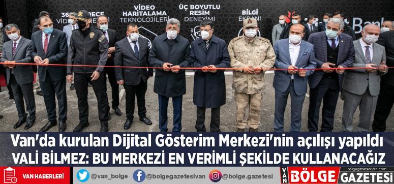Van'da kurulan Dijital Gösterim Merkezi'nin açılışı yapıldı