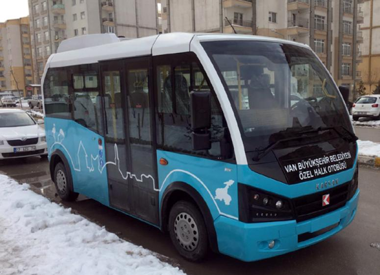 Van'da yeni halk otobüsleri hizmette…