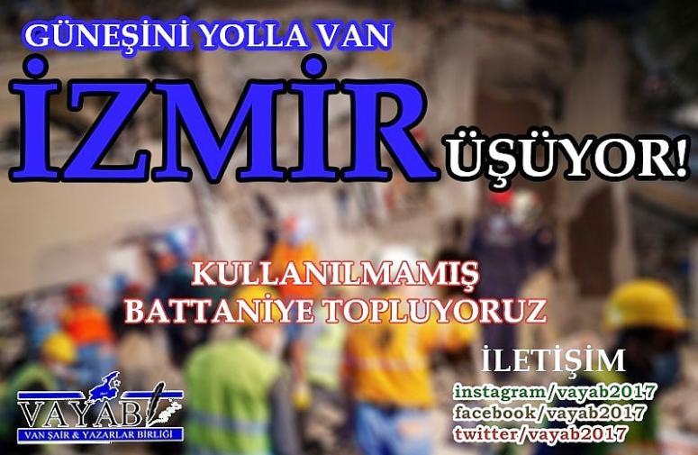 VAYAB'dan, İzmir'deki depremzedelere sıcak yardım…