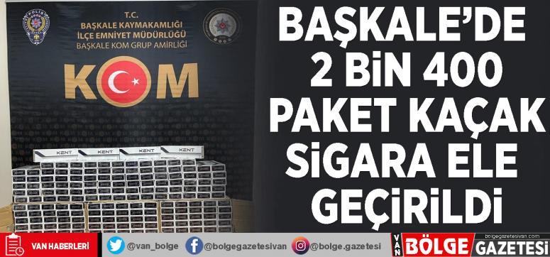 Başkale'de 2 bin 400 paket kaçak sigara ele geçirildi