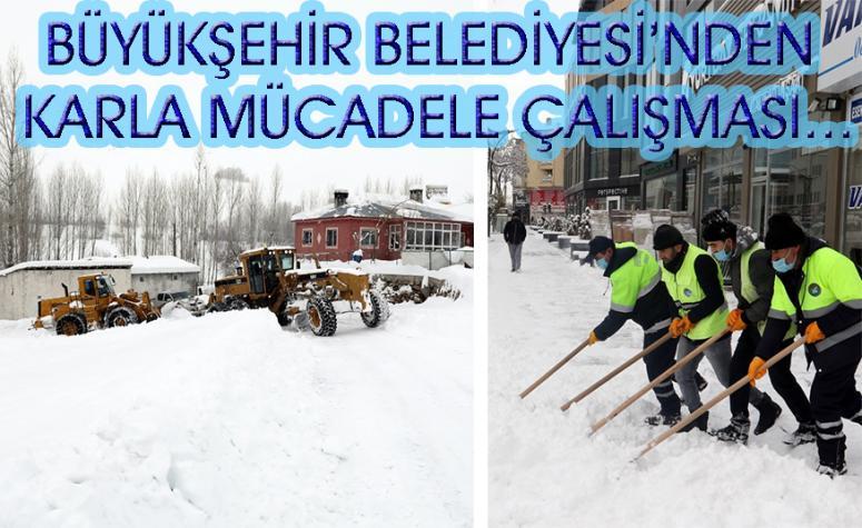 Van'da 580 personel ve 187 iş makinası ile karla mücadele…