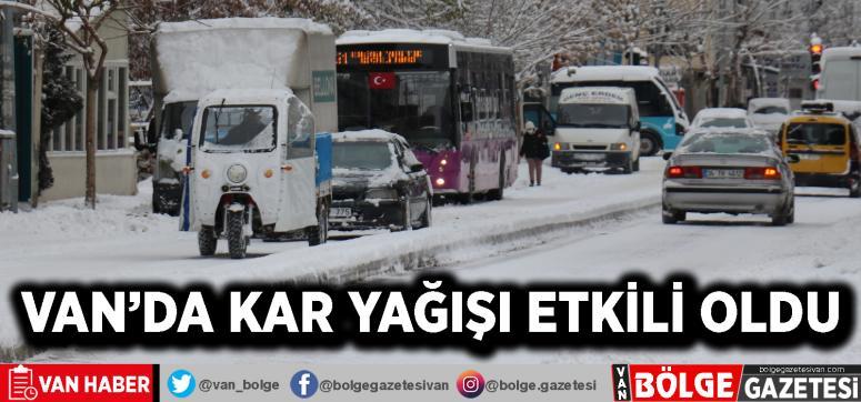 Van'da kar yağışı etkili oldu