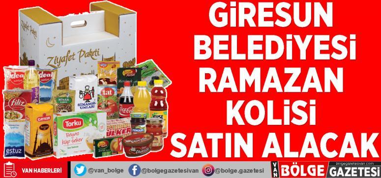 Giresun Belediyesi Ramazan kolisi satın alacak