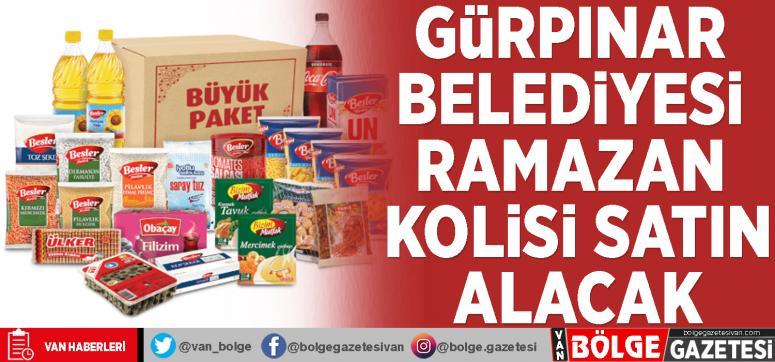 Gürpınar Belediyesi ramazan kolisi satın alacak