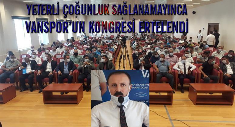 Vanspor'un kongresi haftaya ertelendi