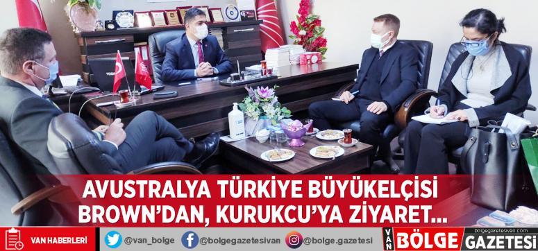Avustralya Türkiye Büyükelçisi Brown'dan, Kurukcu'ya ziyaret…