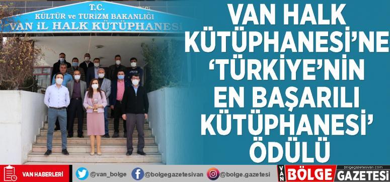 Van Halk Kütüphanesi'ne 'Türkiye'nin en başarılı kütüphanesi' ödülü