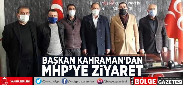 Başkan Kahraman'dan MHP'ye ziyaret