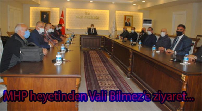 MHP'den Vali Bilmez'e nezaket ziyareti...