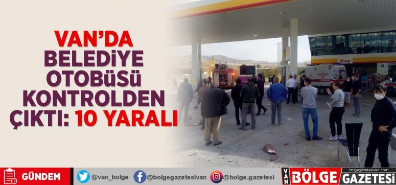 Belediye otobüsü kontrolden çıkarak petrole daldı...