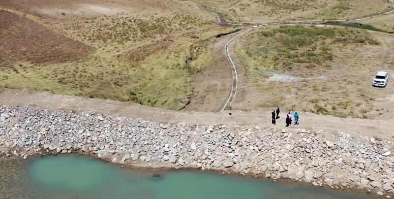 Büyükşehir, Pirgarip'teki sulama kanalını hizmete geçirdi
