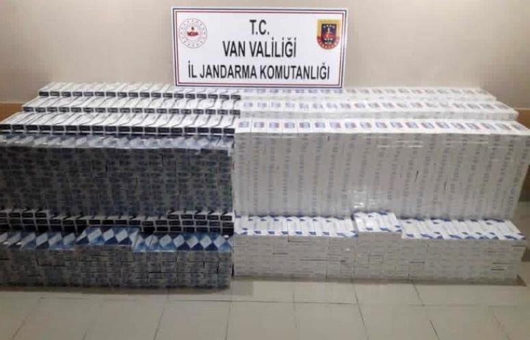 Başkale'de 38 bin 750 paket kaçak sigara ele geçirildi