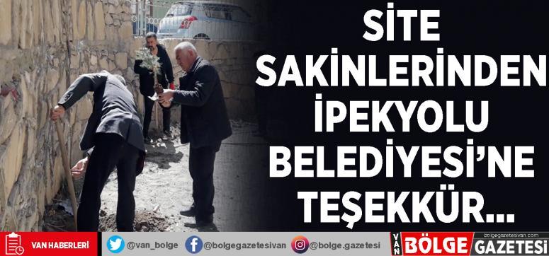Site sakinlerinden İpekyolu Belediyesi'ne teşekkür…