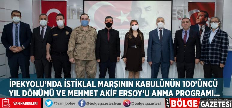 İpekyolu'nda İstiklal Marşının Kabulünün 100'üncü Yıl Dönümü ve Mehmet Akif Ersoy'u anma programı…