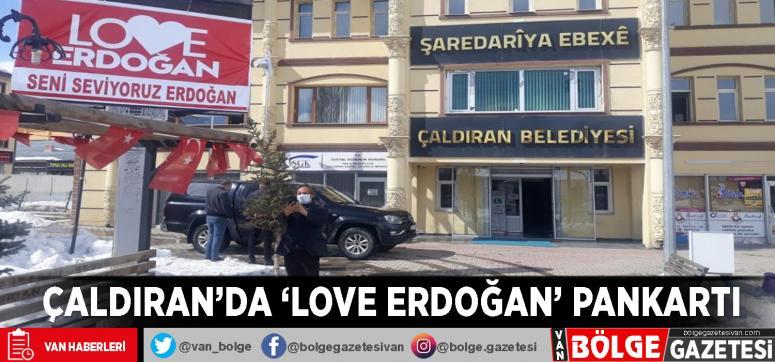 Çaldıran'da 'Love Erdoğan' pankartı