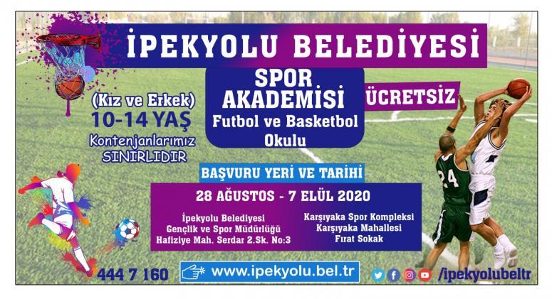 İpekyolu Belediyesi spor akademisi açıyor