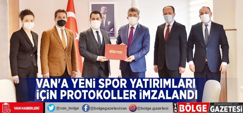 Van'a yeni spor yatırımları için protokoller imzalandı