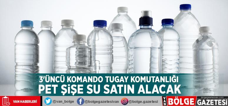 3'üncü Komando Tugay Komutanlığı pet şişe su satın alacak