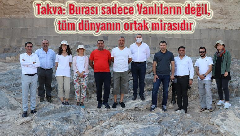 Van TSO yönetimi Ayanıs'taki kazı çalışmalarını inceledi