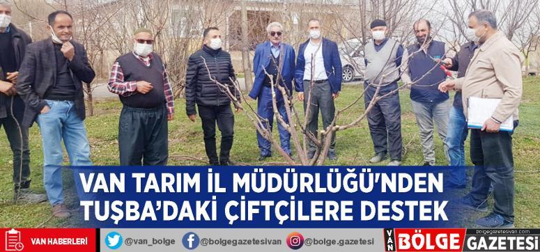 Van Tarım İl Müdürlüğü'nden Tuşba'daki çiftçilere destek