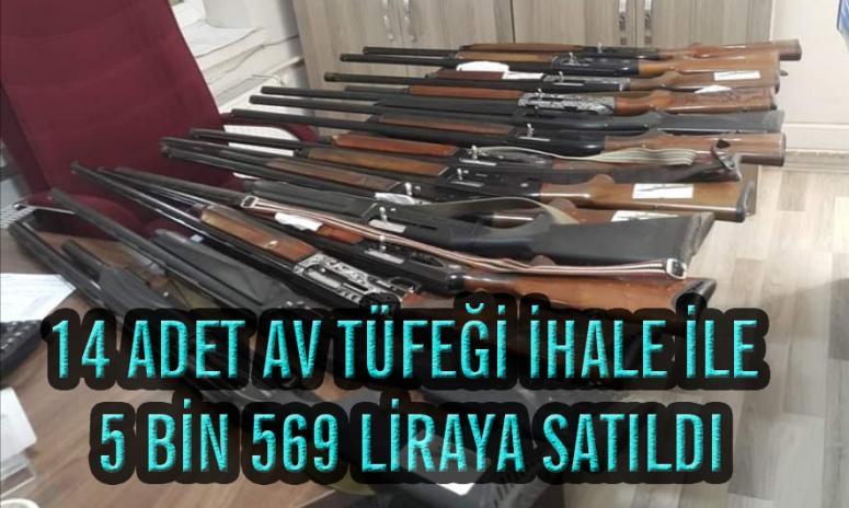 Van'da ele geçirilen av tüfekleri ihale ile satıldı