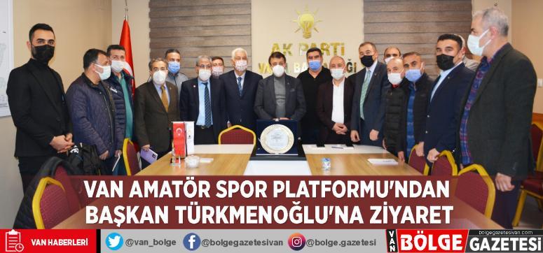 Van Amatör Spor Platformu'ndan Türkmenoğlu'na ziyaret