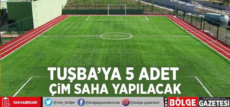 Tuşba'ya 5 adet çim saha yapılacak
