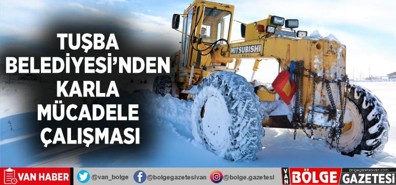 Tuşba Belediyesi'nden karla mücadele çalışması