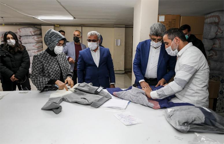 Vali Bilmez'den, tekstil atölyesine ziyaret...