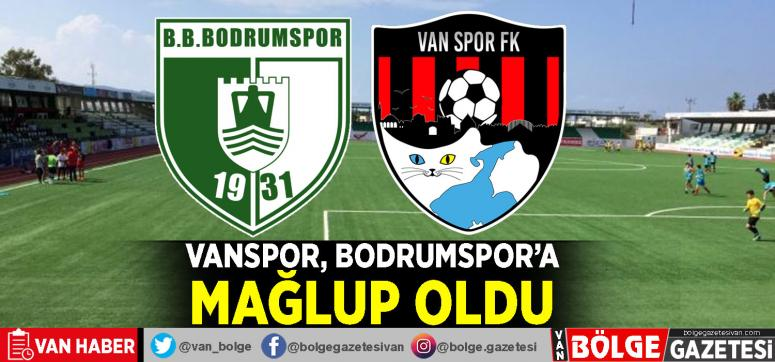 Vanspor, Bodrum'dan eli boş dönüyor: 1-0