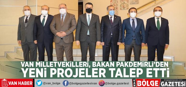 Van milletvekilleri, Tarım ve Orman Bakanı Pakdemirli'den yeni projeler talep etti