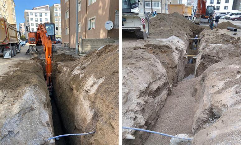VASKİ'den, kent merkezindeki alt yapı çalışmaları…