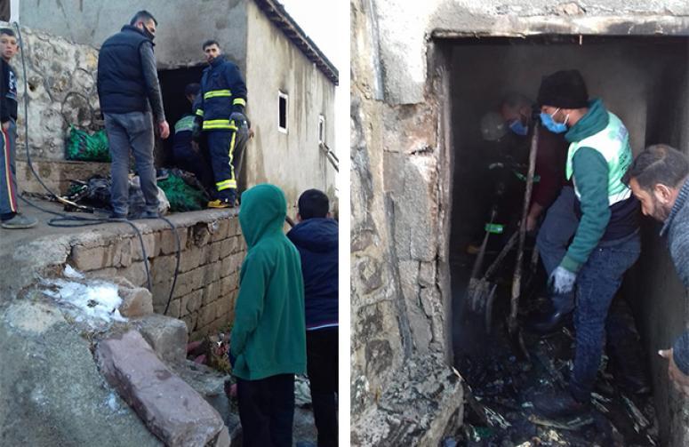 Özalp'ta tandır evinde yangın...