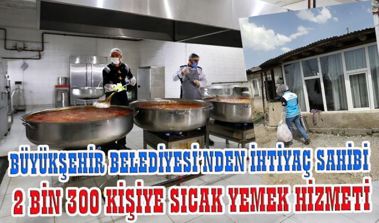 Büyükşehir'den ihtiyaç sahiplerine sıcak yemek…