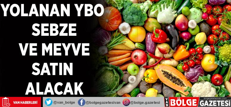 Yolanan YBO sebze ve meyve satın alacak