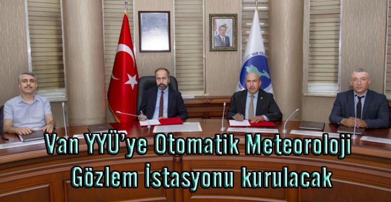 Gözlem istasyonu için protokol imzalandı