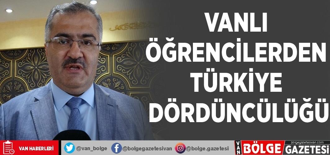 Vanlı öğrencilerden Türkiye dördüncülüğü