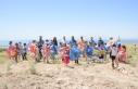 Tuşba'da uçurtmalar gökyüzünü renklendirdi