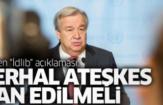BM Genel Sekreteri Guterres'den ateşkes çağrısı...