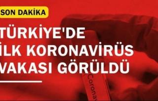 Türkiye'de ilk koronavirüs vakası...