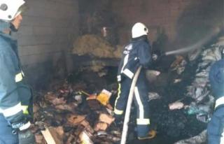 Edremit'te depo yangını