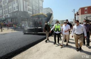Vali Bilmez, prestij caddelerin yenileme çalışmalarını...