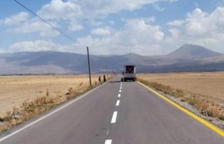 Büyükşehir'den yol çizgi çalışmaları...