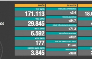 Bir günde 29 bin 845 vaka, 177 ölüm...