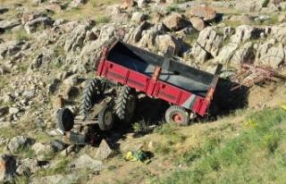 Kontrolden çıkan traktör uçuruma yuvarlandı:...