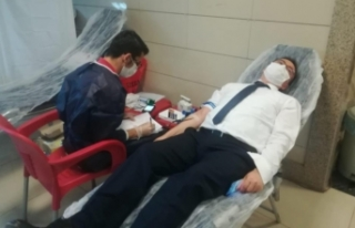 Van'daki hakim ve savcılardan kan bağışı...