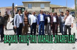 Başkan Tanış, dört mahalledeki vatandaşlarla...