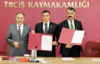 Erciş'te enerji nakil hatları yer altına alınıyor