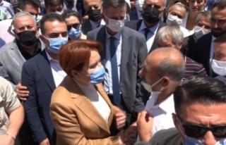 Erciş'te şehit yakınlarından Akşener'e tepki